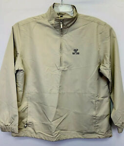 Kate Lord Women's Large Beige 1/4zip Mesh Lined Pullover Golf Jacket NW/OT's(E42