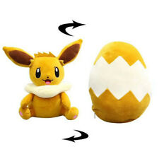 Creative Pokemon Cushion Eevee Plush Doll Deformable Egg Pillow Stuffed Toy Gift