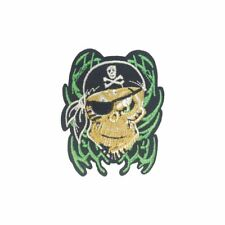 Pirate Skull (Iron On) Embroidery Applique Patch Sew Iron Badge