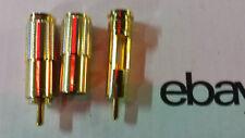 Oberklasse GOLD 2xCINCH STECKER SET EDEL  <8mm 24-KARAT Referenzklasse