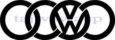 VW AUDI VAG CAR STICKERS PAIR POLO CAMPER T4 T5 DUB GOLF RS STICKER FREE P&P