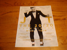 JUSTIN TIMBERLAKE of N'Sync ad for The 20/20 Experience World Tour in suit & tie