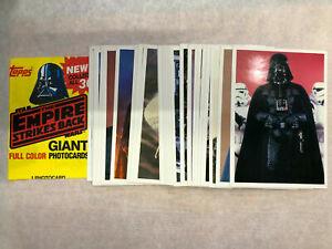 1980 Topps Star Wars Empire Strikes Back 5x7 30 Card Set Plus Wrapper