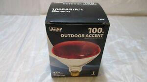Feit Electric 100PAR/R/1 Par 38 100 Watt Red Reflector Flood Light Bulb Outdoor