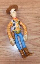 "Genuine Disney / Pixar 6"" Soft Body Burger King Woody Doll With Plastic Head"