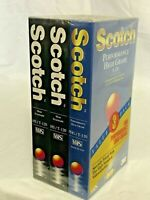 Scotch VHS Tapes Performance High Grade PHG And HS/T-120 New & Sealed 3 Pack