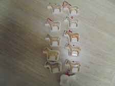 (11) Vintage Ceramic Sheep Hanging Ornaments 4 x 2-1/2""