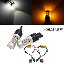 Car Lamp Bulbs Dual Color Turn Signal Light Bulb LED DRL Daytime Running Light