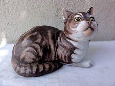 """1982 Franklin Mint Porcelain """" Fascination """" Large Cat"""