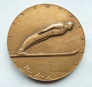 Médaille Bronze L. GIBERT Criterium National de Saut à SKI Chamonix 1966
