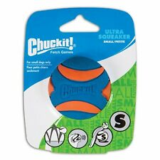 Chuckit! Ultra Squeaker Ball Natural Rubber Dog Toy Small (2-inch) Pack of 3