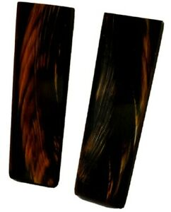 2 Red Streaked Buffalo Horn Scales 5x1.5x3/8 Knife Gun Handles Eye Frames Inlays