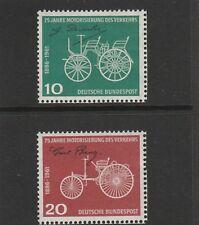 GERMANY 1961 - 75TH ANNIV. OF DAIMLER BENZ - SET (2V) - UM / MNH