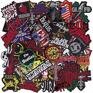 Music Band Punk Rock N Roll Heavy Metal Reggae Pop Iron on Patch Random