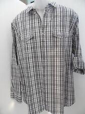 mens shirt brand APT.9 size x large check pattern 2 pocket  tall shirt MT18