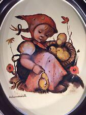 Vtg Chick-Girl Tr-H371 Hummel Oval Metal Tray 1983 Ars : Orig Hummel People