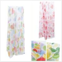 Window Screening Peach Blossom Heart Voile Offset Screens Home Tulle Curtains