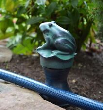 New listing New Frog On Lily Pad Garden Hose Guard Guide Garden Stake Outdoor Decor