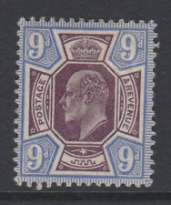 SG 307a 9d Pale Plum & Cobalt Blue M41 (-) unlisted shade  fine & fresh L.M.Mint