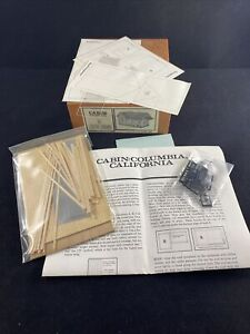 The Structure Company HO Scale Cabin: Columbia, CA Model Kit New