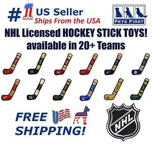 NHL Hockey Stick Toy for Dogs & Cats - Heavy-Duty, Durable Dog Toy with Squeaker