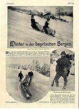"""Winter in den bayrischen Bergen Holzknecht Fäßchen""""Bayrisch""""Milchfrau Bäc...1907"""