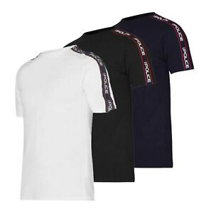 Mens 883 Police Short Sleeves Casual Logo Crew Neck T Shirt Sizes from S to XXL