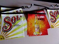 NEW Sol Cerveza Importada El Espiritu De Mexico Bottle String Banner ManCave B2