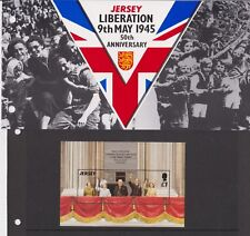 JERSEY PRESENTATION PACK 1995 LIBERATION 50TH ANNIVERSARY STAMP SHEET 10% OFF 5+