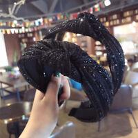 Women's Wide Hair Band Headband Twist Crystal Hairband Headwrap Hair Accessorie