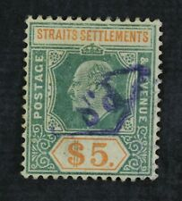 Ckstamps: Gb Straits Settle Stamps Collection Scott#104 Used Lightly Crease