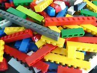 LEGO 100 g BASIC STEINE Grundbausteine Classic hoch bunt kg ** EINREIHIG **