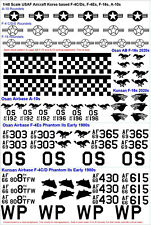 1/48 Scale USAF in Korea decals for F-4C/D/E  F-16 and A-10 Osan and Kunsan ABs