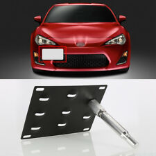 Bumper Tow Hook License Plate Mount Bracket Holder For Scion FRS Subara BRZ WRX