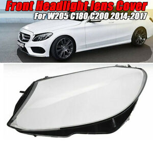 Left Side Headlight Cover For Benz W205 C180 C200 C260L/280/300 2014-2017