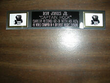 ROY JONES JR. (BOXING) NAMEPLATE FOR SIGNED GLOVES/TRUNKS/PHOTO DISPLAY