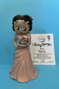 """2000 Wade 5"""" Porcelain Betty Boop ROSE 🌹 Figurine LE 1000 King Features England"""