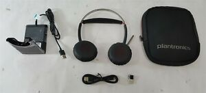 Plantronics B825M Voyager Focus UC Headset w/ Case, Stand, USB Dongle & Cable