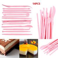 14Pcs DIY Cake Modelling Tools Set Fondant Clay Cutter Carve Pen Mould Mold Kits