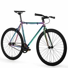 Golden Cycles Oil Slick Fixed Gear Single Speed Urban Fixie Bike Bicycle 41-63cm