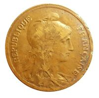 FRANCE 5 CENTIMES 1915 - NICE COLLECTIBLE COIN  #BZS50