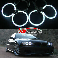 CCFL Standlicht Ringe Angel Eye Scheinwerfer Reflektor für BMW E46 2D Coupe-4pcs