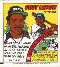 CHET LEMON 1979 Topps Comic (#5) Chicago White Sox EX+/NR MT