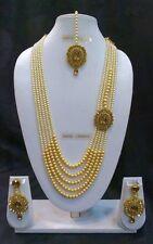 Bollywood Indian Ethnic Designer Gold Plated Fashion Kundan Pearl Jewelry Set