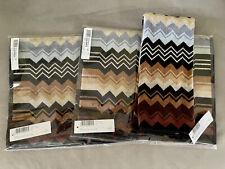 Set Of 2 Nwt Missoni Home Giacomo Brown Chevron Hand Towels 16� X 27� Color 160