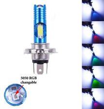 LED H4 pour scooter moto ampoule RGB Automatique COB pour phare avant 12V