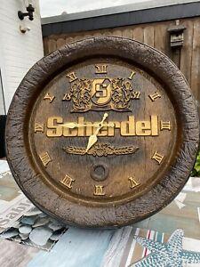 Brauerei Uhr Fassboden Brauerei Scherdel Hof Durchm 40 Cm Kunststoff