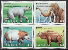 Canada #1529-1532 43¢ Prehistoric Life in Canada MNH - B