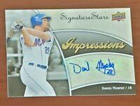 2009 Upper Deck Daniel Murphy Mets 28 Inscr. 2015 NLCS MVP Signed Certified Auto