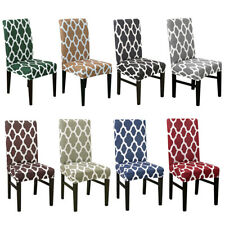 1 4 6Pc Stretch Spandex Chair Cover for Dining Room Wedding Party Seat Slipcover